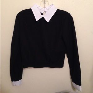 Choies collared sweater crop top (Size S)