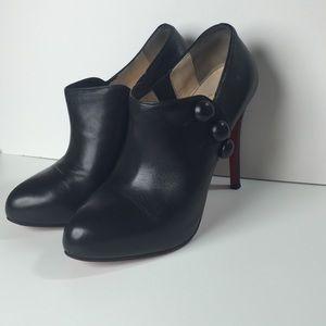 Christian Louboutin C'est Moi black ankle booties