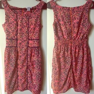Bar III XS PINK PATTERN DRESS