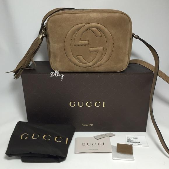fb7ab0e4833 Gucci Handbags - ⚡ ⚡️GUCCI SOHO DISCO TAN TAUPE NUBUCK