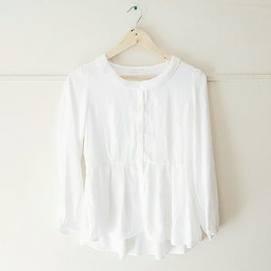 NWOT Sheer White Blouse Button