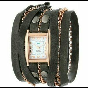 La Mer Collections Slate Rose Clifton Wrap Watch!