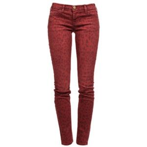 CURRENT/ELLIOTT red leopard ankle skinnies