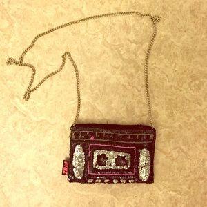 Sequined Casette purse