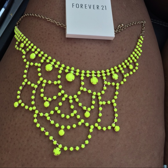 Forever 21 jewelry bn neon yellow chandelier necklace poshmark forever 21 neon yellow chandelier necklace aloadofball Images