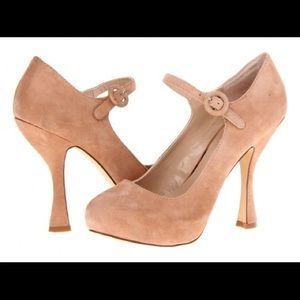 DV by Dolce Vita Blush nude suede pumps