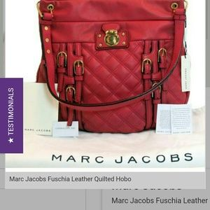 Marc Jacobs Handbags - MARC JACOBS Leather Multi Buckle Hobo Fuchsia
