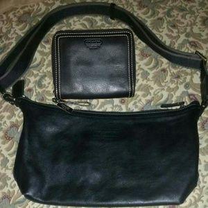 'Coach' leather messenger bag