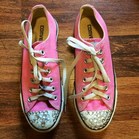 13d8db8cd066 Converse Shoes - Pink Jeweled Converse Sneakers Shoe