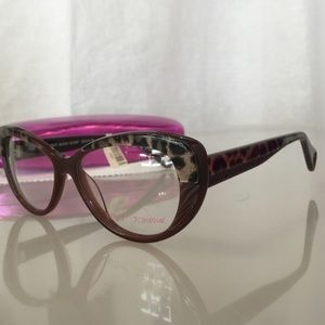 33b387aa62f5 Betsey Johnson Accessories - New Cat Eye Brown Leopard Print Glasses Frames