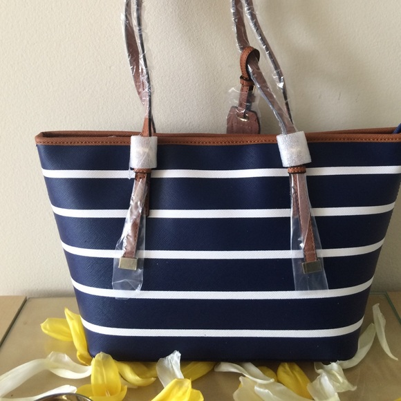bf577e44b0 ALDO Handbags - Brand New Aldo Navy And White Striped Handbag