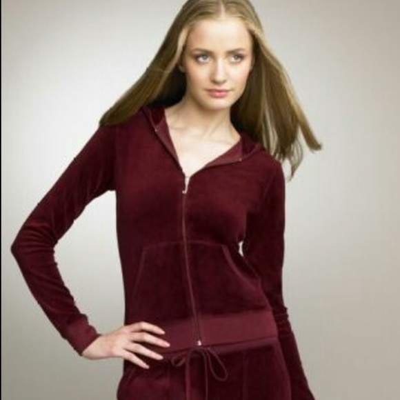 804b06b8e65d Juicy Couture Sweaters - Burgundy Velour Juicy Couture sweat suit