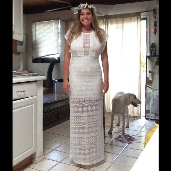 Free People - White bohemian maxi lace dress from !!! a tann's ...