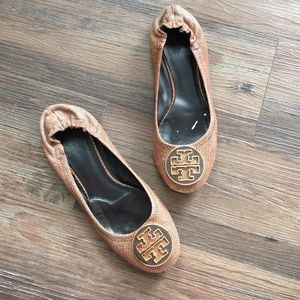 "Tory Burch Shoes - Tory Burch ""Reva"" flats, brown stingray"