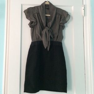 Banana Republic bow tie ruffle sleeve dress size 0