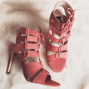SALE❗️DV Dolce Vita Coral Suede Lace-Up Heels