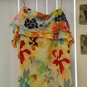 Thalia Sodi  Ruffle Floral Print Dress