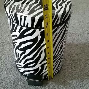Zebra Print Trash Can Quart Rev A Shelf Double Qt Pull Out