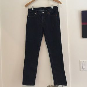 UNIQLO Dark wash cigarette style jeans
