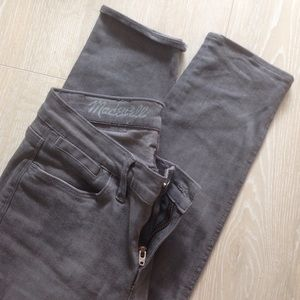 Madewell grey Skinny Ankle jeans