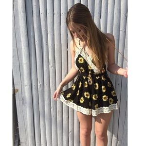 LF Dresses & Skirts - LF Sunflower Romper
