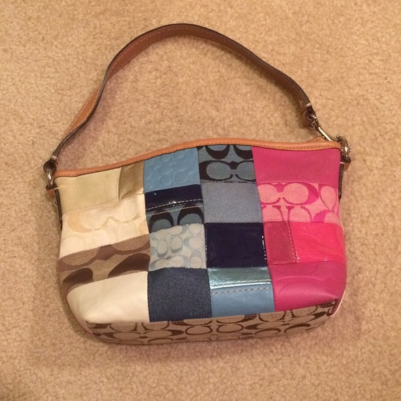 c9f63f3289 Coach Handbags - COACH Multicolor Patchwork Purse