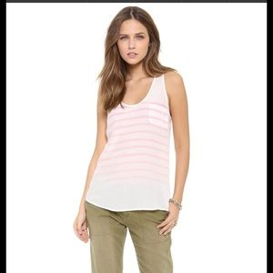 Joie Tops - ✨BEST PRICE✨ Joie Pocket Pink Stripe Tank