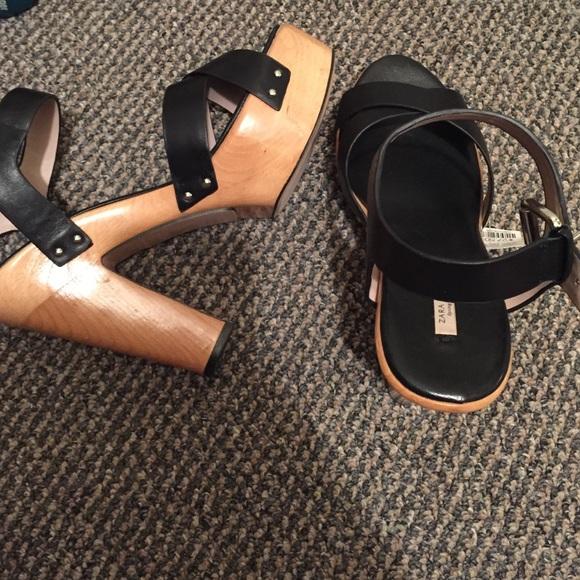 Zara Glitter Platform Sandals 78