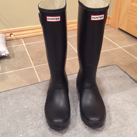 47 off hunter boots boots tall matte black hunter rain
