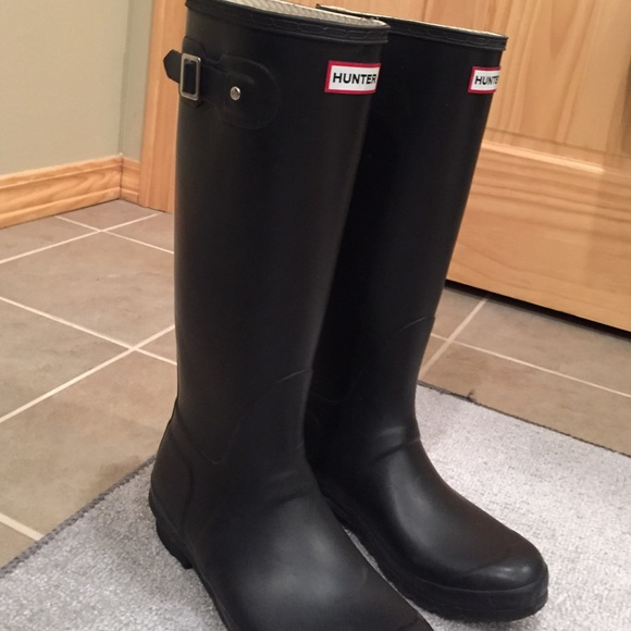Black Matte Rain Boots - Cr Boot
