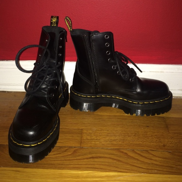 Clothing, Shoes & Accessories Dr Martens Jadon Size 5 Black Polished Smooth Size 5 Brand New In Box Women's Shoes