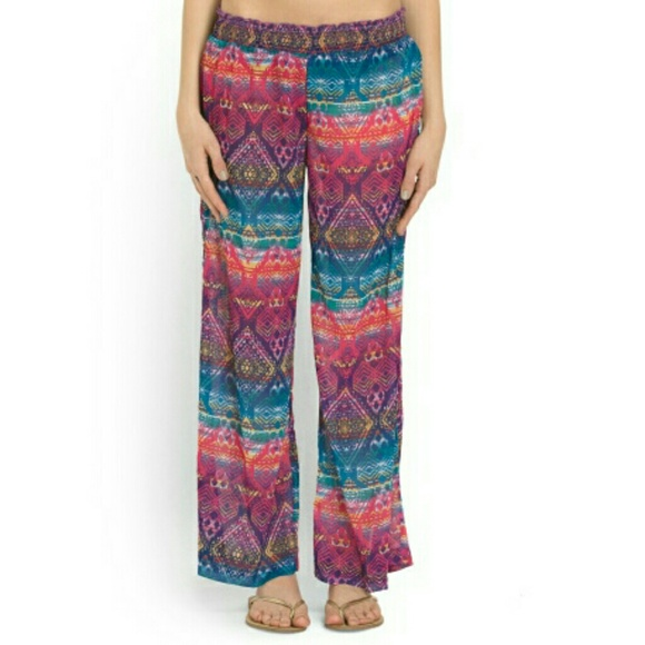 45% off Jessica Simpson Pants - NWT Printed colorful sheer ...