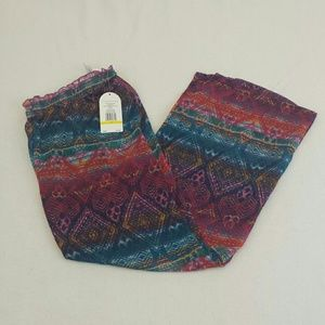49f8c1e989 Jessica Simpson Pants - NWT Printed colorful sheer beach cover up pant