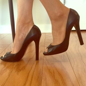 Jimmy Choo Shoes - Jimmy choo peep toe heels in black leather