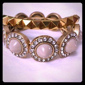 Noir jewelry spiked bracelet & JCrew cabochon pair