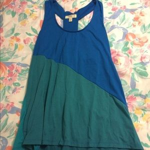 Tops - Blue and green tank top