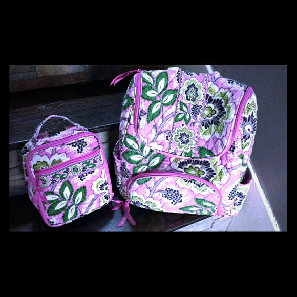 Vera Bradley Backpack And Lunch Box