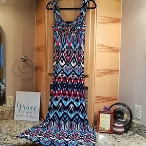 INC International Concepts Dresses & Skirts - INC Multi color print maxi dress,  Nwot