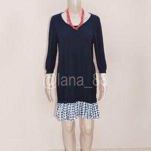 NEXT Drop-Waist Chiffon Skirt Sweater Dress