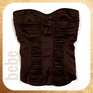 Chocolate Bebe Sweetheart Strapless Top