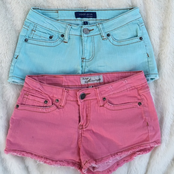 78% off Vintage Havana Denim - Colored Denim Shorts Ocean Drive ...