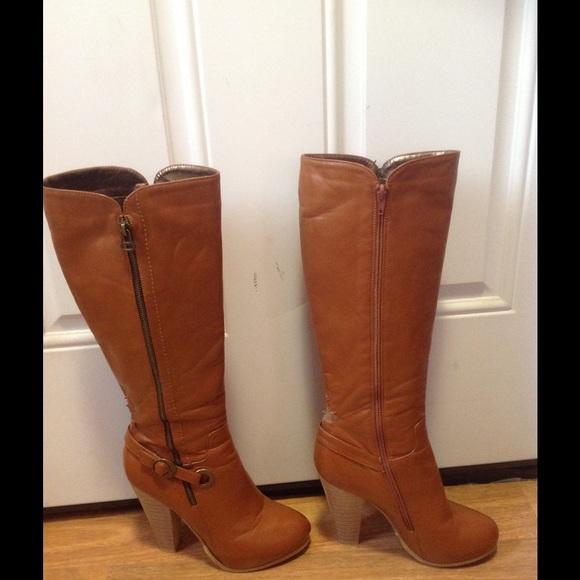 73 arden b shoes arben b camel zipper colored boots