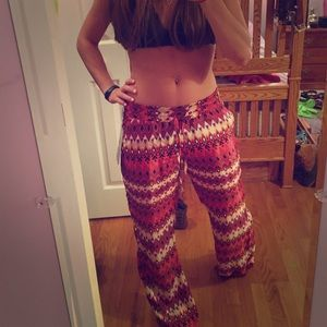 Pants - Patterned beach pants