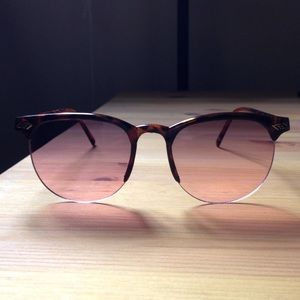 Accessories - Pink tinted browline sunglasses