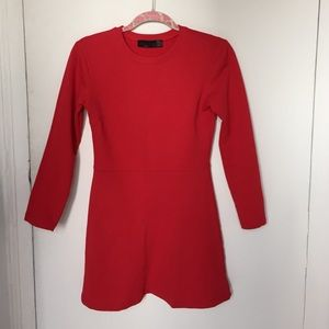Zara Dresses & Skirts - Zara TRF RED cotton dress