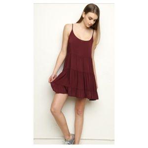 Brandy Melville Maroon Jada Dress