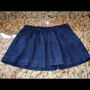Madewell NWOT Denim Side Zip Skirt Size 24