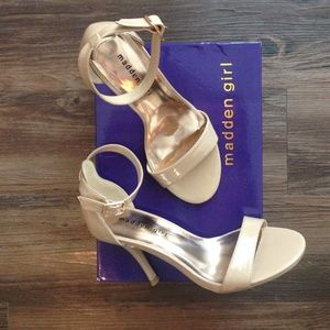 Madden Girl Shoes - New in box Madden Girl nude heels, 7.5