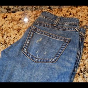 "Free People Size 25 Distressed Jeans 34"" inseam"