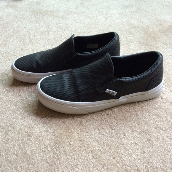 Vans Shoes - vans perforated leather slip-ons 9bf96d518